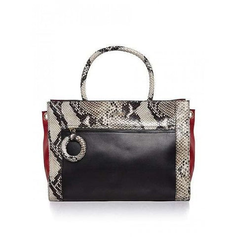 Black Snake Tote by Just Cavalli