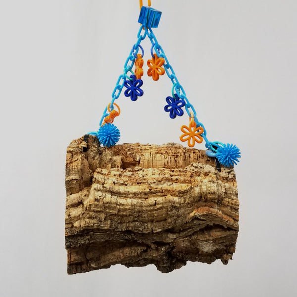 Hanging Cork Bark Logs or Donuts (Medium)