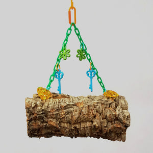 Hanging Cork Bark Logs or Donuts (Small) Photo