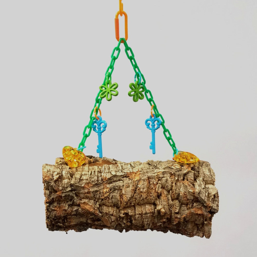 Hanging Cork Bark Logs or Donuts (Small)