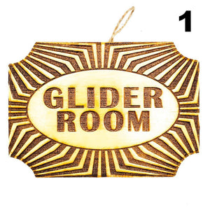 Glider Room Plaque Photo