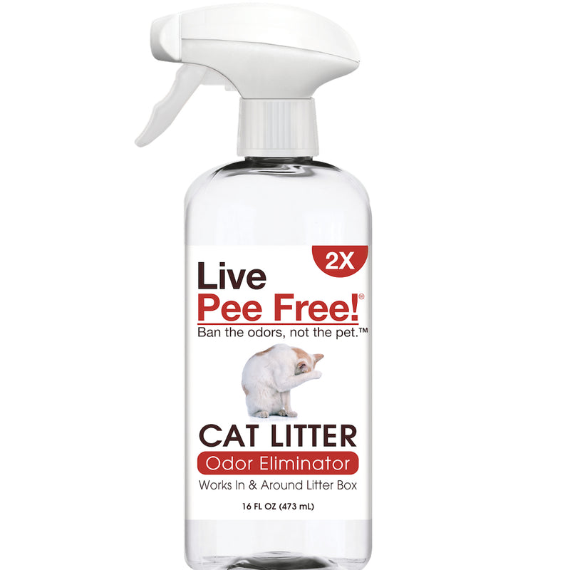 Live Pee Free!® Cat Litter Odor Eliminator 2X - 16 oz.