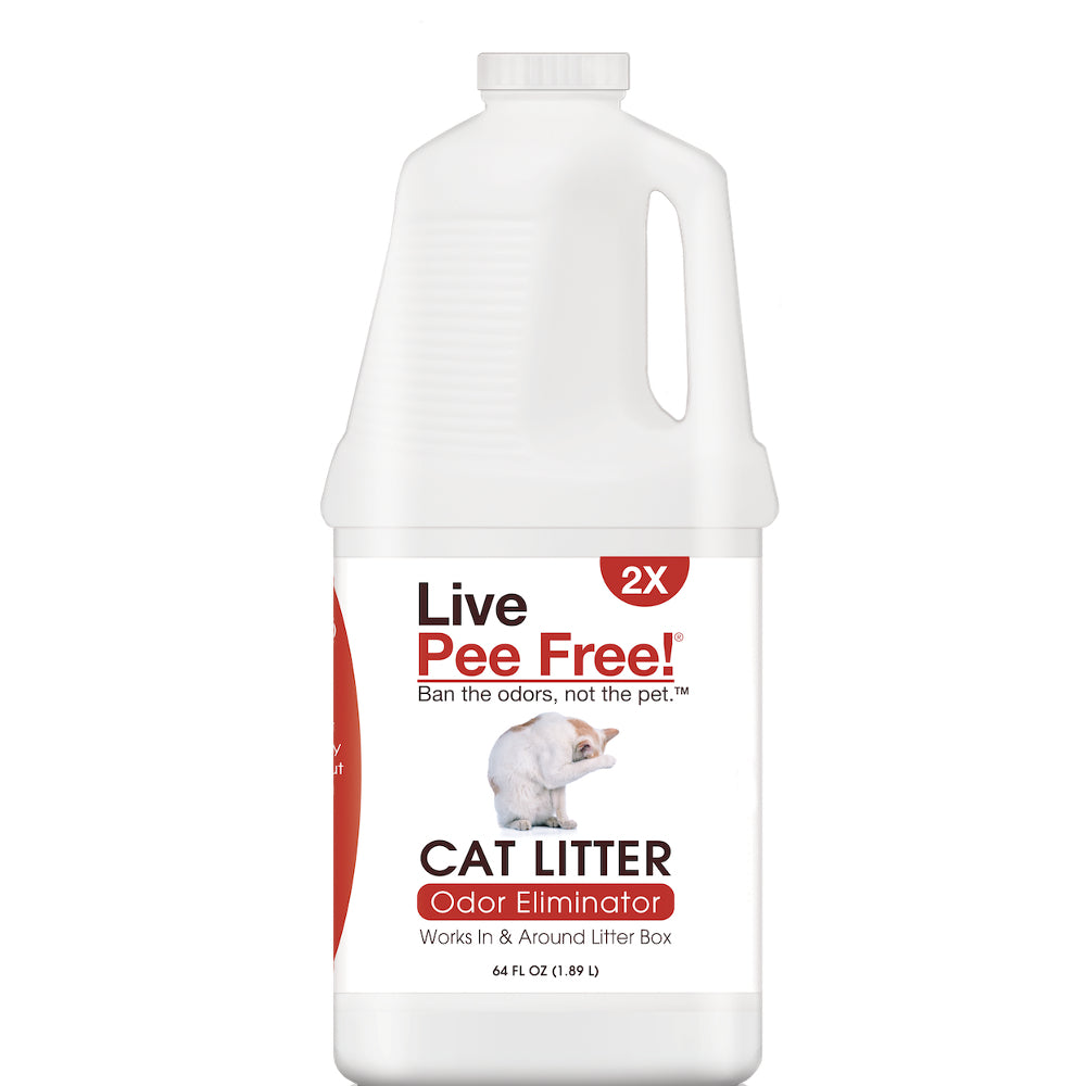 Live Pee Free!® Cat Urine Odor Eliminator 2X - 64 oz.