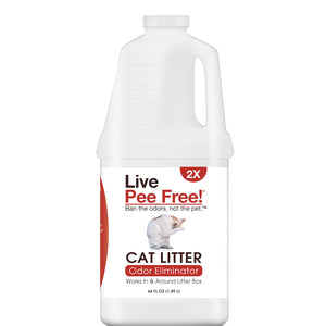Live Pee Free!® Cat Urine Odor Eliminator 2X - 64 oz. Photo