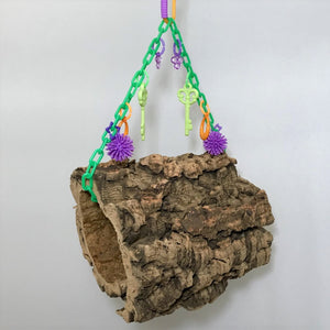 Hanging Cork Bark Logs or Donuts (Medium) Photo