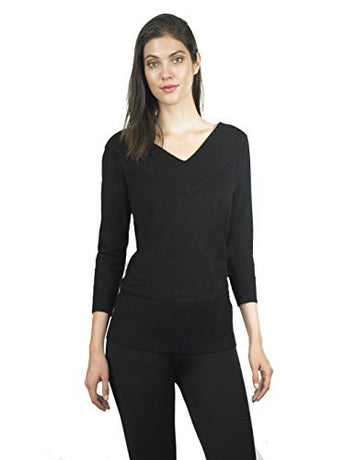 FOCUS 2000 Ladies Fancy V Neck Long Sleeve Sweater