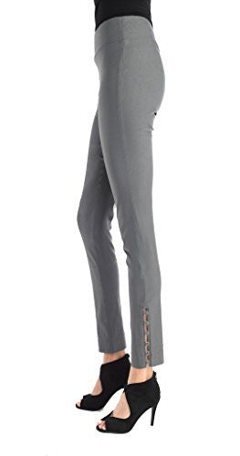 FOCUS 2000 Ladies Techno Thin Ring Detail Pull On Pant