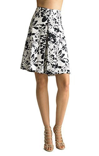 FOCUS 2000 Women's Modern Floral Printed Skirts.