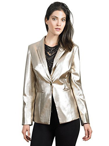 FOCUS 2000 Ladies Gold Single Breast Blazer