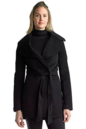 Searle Women Stylish Cashmere Coat (Black)