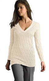FOCUS 2000 Ladies Long Sleeve V Neck Sexy Sweater