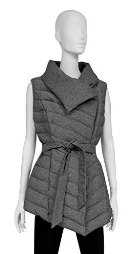 Searle Postcard Envelope Collar Down Filled With Tie Waist Quilted Vest
