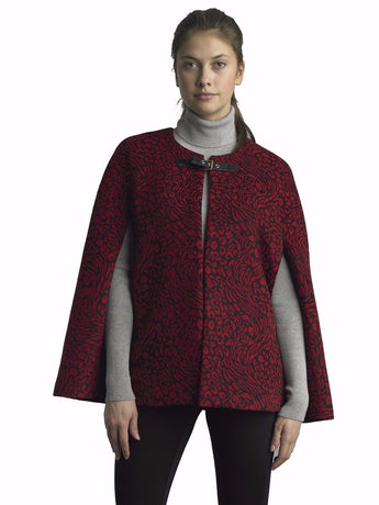 FOCUS 2000 a Ladies Fashion Animal Jacquard Cape