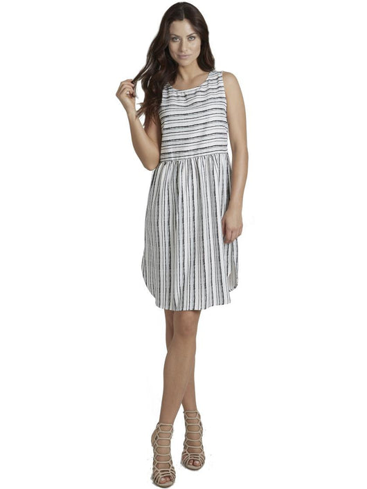 Ally NYC Women's Stripe Day To Night Midi Dress