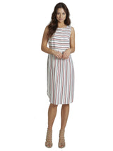 Ally NYC Women's Stripe Midi Day To Night Dress