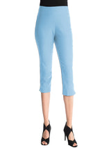 Ally NYC Women's Techno Thin Pull on Skinny Capri Pants