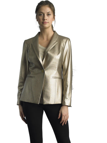 Focus2000 Ladies Gold Single Breast Blazer