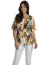 Ally NYC Women's Fresh Floral Print Knit Top