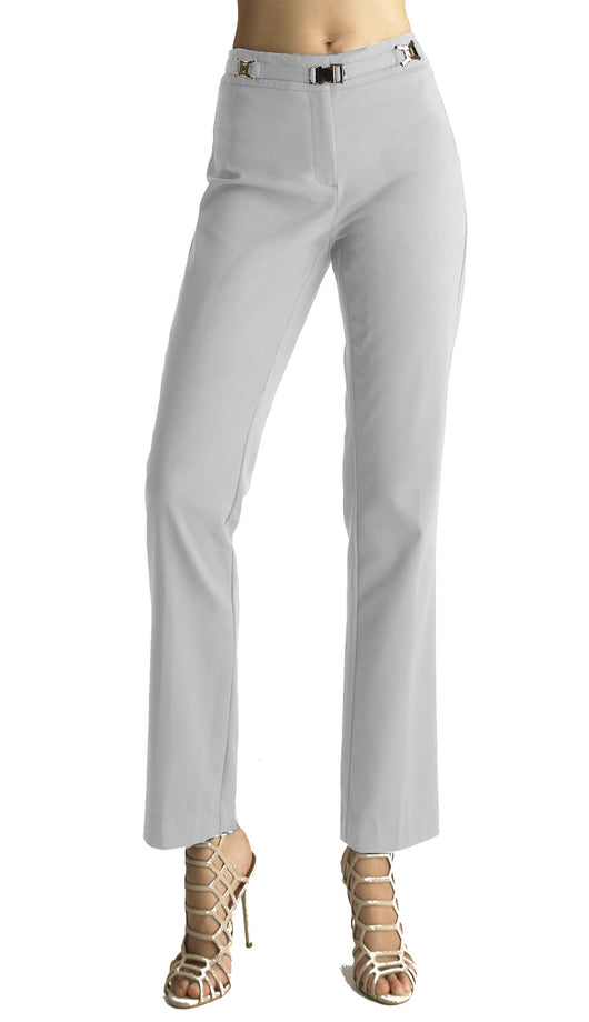 Ally NYC Women's Gold Buckle Front Belt Pants