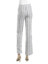 Ally NYC Women's Vertical Stripe Easy To Wear Pull On Pants