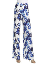 Ally NYC Women's Water Floral Easy To Wear Pull On Pants