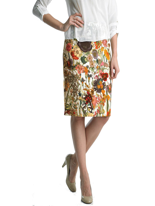 Ally NYC Women's Nature Print Knee Length Skirt
