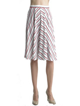 Ally NYC Women's Vertical Stripe Midi Skirt