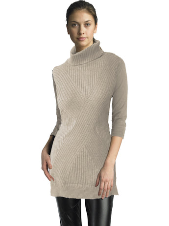 Ally NYC Women's Cable Side Slit Sweater