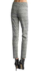 FOCUS 2000 Ladies Techno Thin Parsely Jacquard Pull On Pant (Grey)