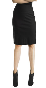 FOCUS 2000 Ladies Novelty Lace Trim Techno Thin Skirt (Black)
