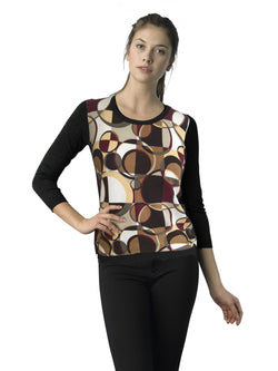 Ally NYC Women's Retro Print Sweater