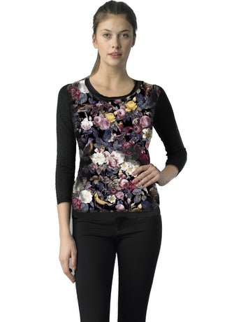 Ally NYC Women's Floral Print Sweater