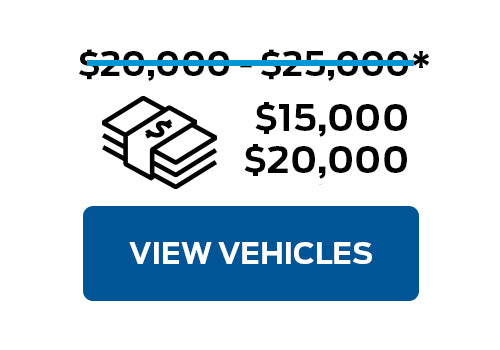 Pre-Owned Vehicles from $15,000 to $20,000