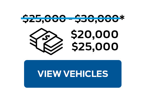 Pre-Owned Vehicles from $20,000 to $25,000