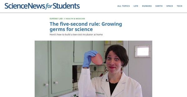 The Science News for Students headline.