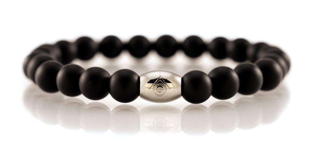 Evilkind Matte Black Onyx Christian Bead (8mm) Bracelet - Evilkind