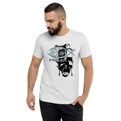 Evilkind® Vespa Jesus Freak Tri-Blend Short Sleeve Unisex T-Shirt - Evilkind