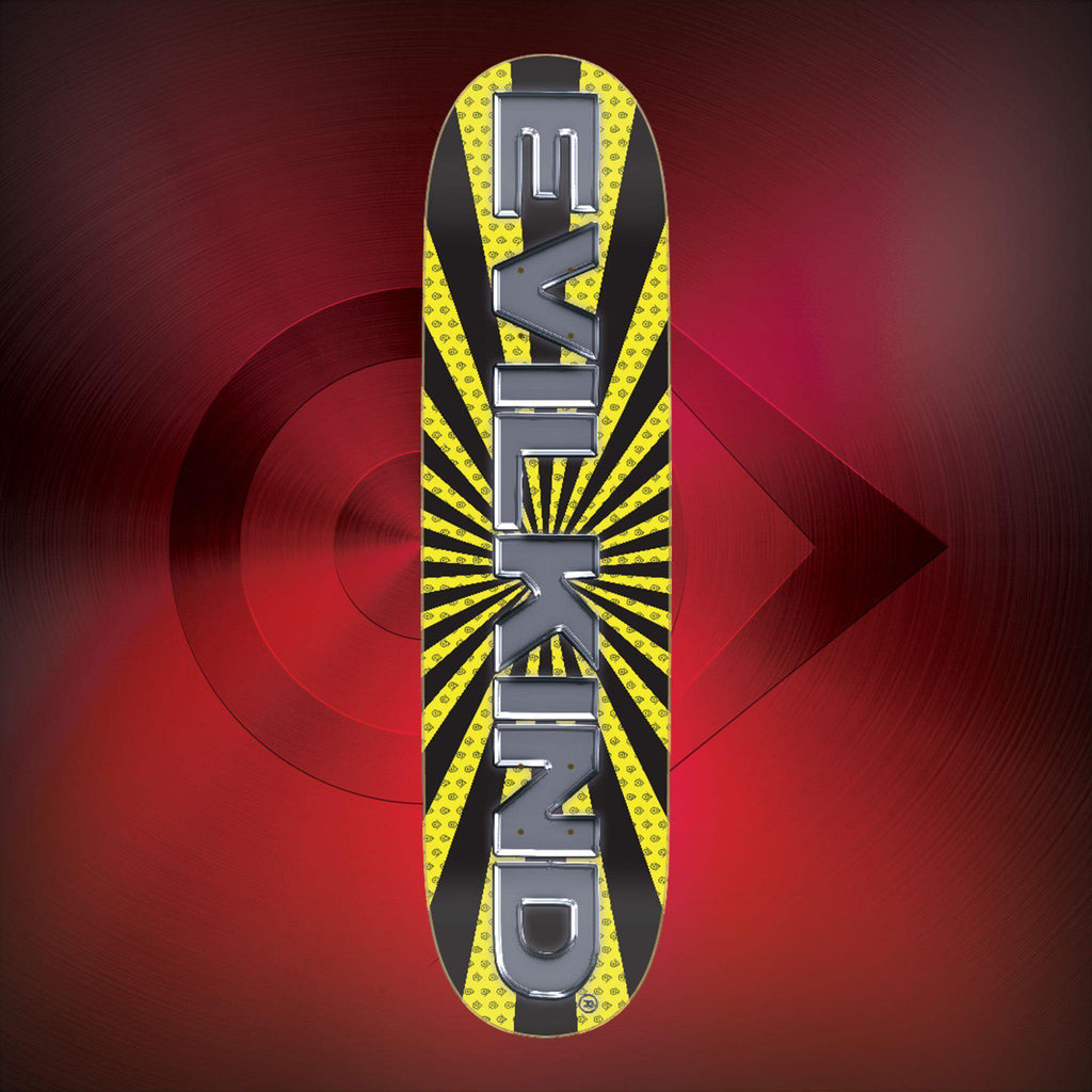 Evilkind® Chrome and Sun Skate Deck