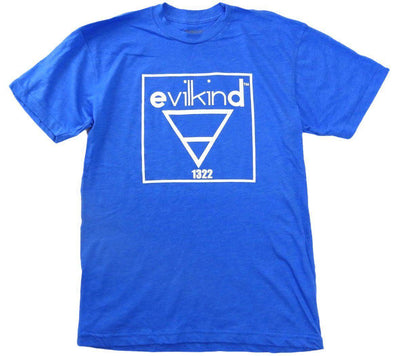 Evilkind Men's Short Sleeve Crew Neck T-Shirt Lake Blue - Evilkind