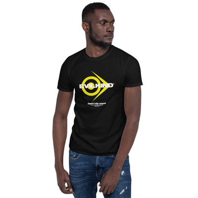 Evilkind® Simply Yellow Logo Glory Short-Sleeve Unisex T-Shirt