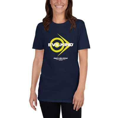 Evilkind® Simply Yellow Logo Glory Short-Sleeve Unisex T-Shirt - Evilkind