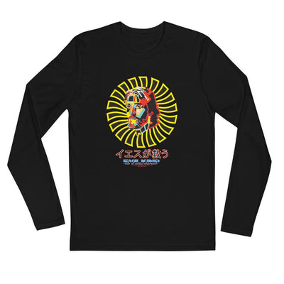 Evilkind® Jesus Saves in Japanese Long Sleeve Fitted Crew