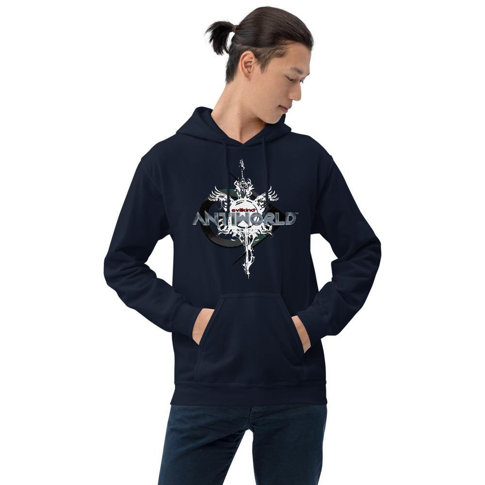 Evilkind® Antiworld™ Sword and Shield Unisex Hoodie - Evilkind