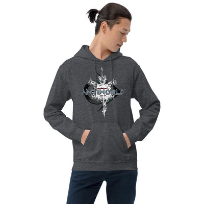 Evilkind® Antiworld Sword and Shield Unisex Hoodie