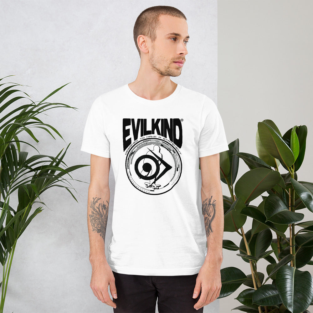 Evilkind® Skateboarding - Designed to PUSH the Limits - Short-Sleeve Unisex T-Shirt