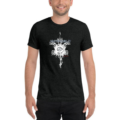 Evilkind® Antiworld™ Sword and Shield Tri-Blend Short Sleeve Unisex T-shirt - Evilkind