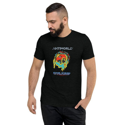 Evilkind® Antiworld™ Jesus Saves Tri-Blend Short Sleeve Unisex T-Shirt - Evilkind
