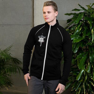 Evilkind® Antiworld™ Sword and Shield Piped Fleece Jacket - Evilkind