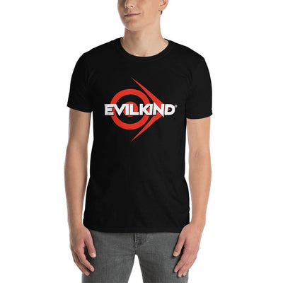 Evilkind® Logo in Red & White Short-Sleeve Unisex T-Shirt