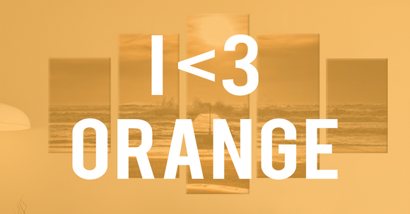 15 Orange Wall Art Pieces That Will Blow Your Mind Away